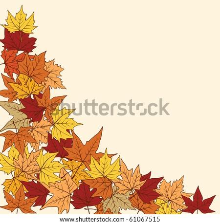autumn background.raster - stock photo