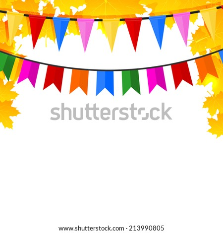 Autumn background with maple leaves and pins.  - stock photo