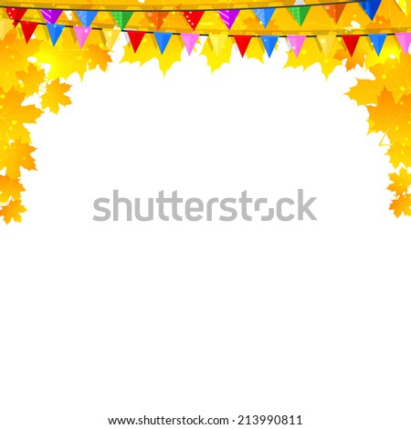 Autumn background with maple leaves and pins. Back to school.  - stock photo