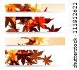 Autumn banner set illustration - stock vector