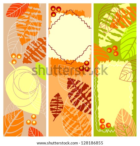 Autumn banners. Raster version. Vector is also available in my gallery - stock photo