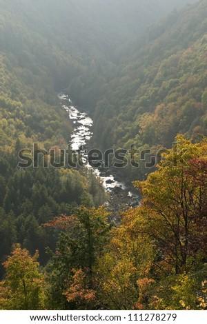Autumn, Blackwater Falls State Park, West Virginia, USA - stock photo