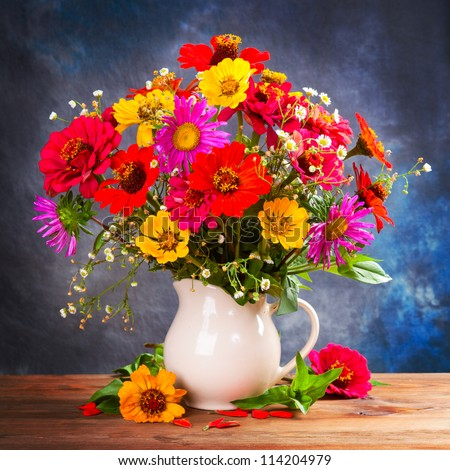 Autumn bouquet flower - stock photo