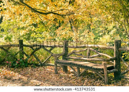 Autumn Central Park, New York City - stock photo