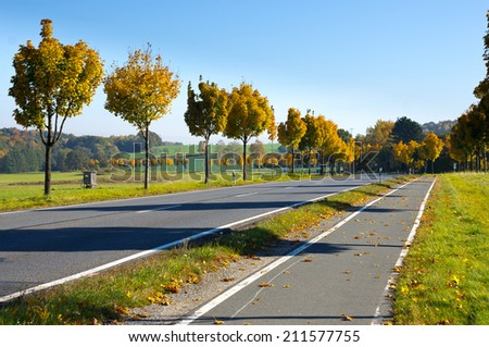Autumn colors in Germany - stock photo