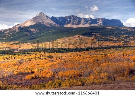 Autumn Colors in Glacier National Park, Montana, America - stock photo