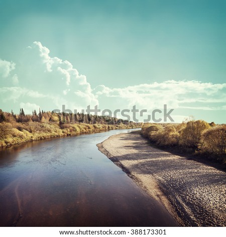 Autumn day background in Europe  - stock photo