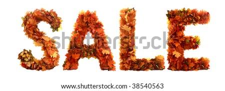 autumn discount - stock photo