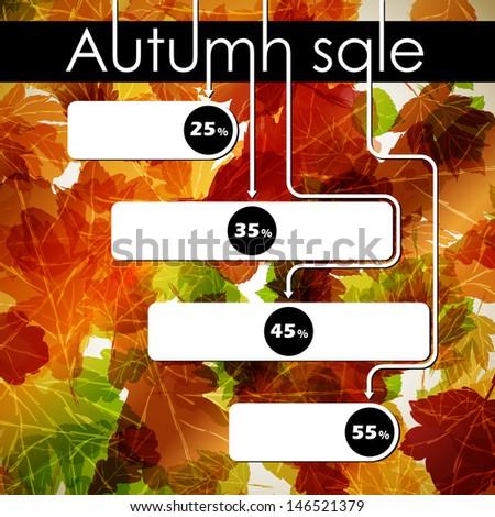 autumn discount sale, jpg - stock photo