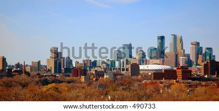 Autumn Downtown Minneapolis