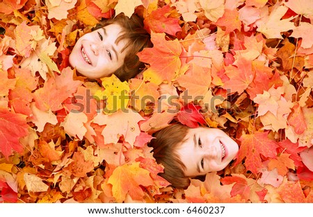 Autumn Faces - stock photo