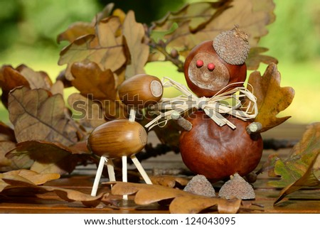 Autumn figures - stock photo