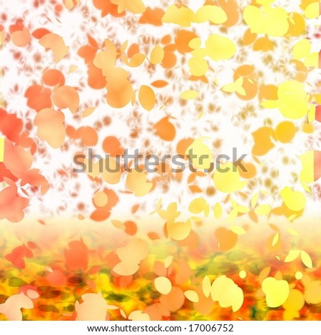 Autumn floral dancing in the wind - stock photo