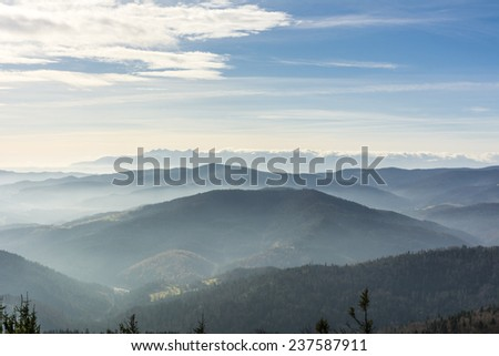 Nice mountain stock images royalty free images vectors autumn fog between the mountain range sciox Gallery