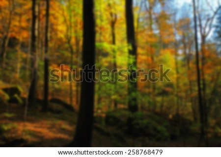 Autumn Foliage Blur - stock photo