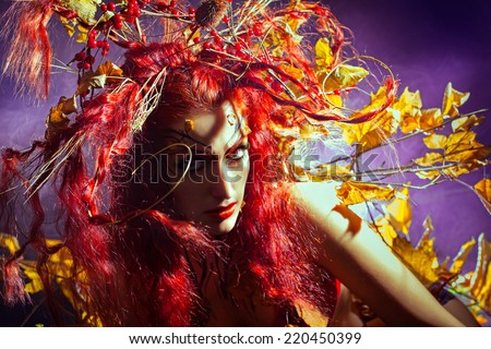 Autumn Forest Fairy - stock photo