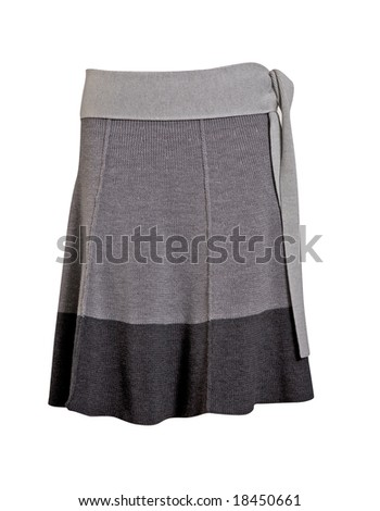 autumn grey woolen skirt