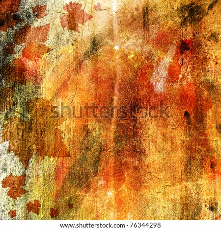 AUTUMN GRUNGE  BACKGROUND - stock photo