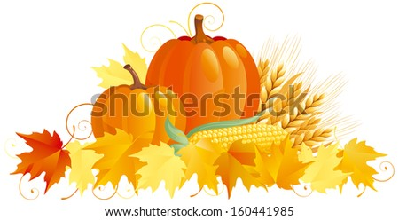 Autumn Harvest. Group of vegetables isolated on white background.   - stock photo