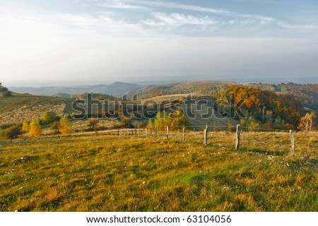 Autumn hills and meadows