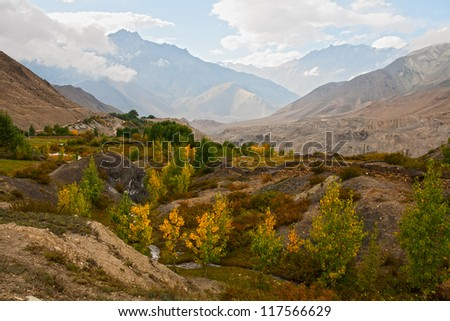 Autumn Himalaya landscape, the Lower Mustang