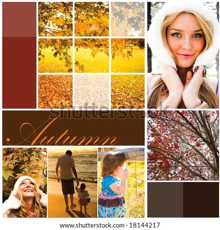 Autumn holiday design - stock photo