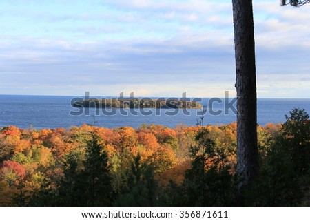 Autumn Hunting Shack - stock photo