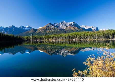 Autumn in Alberta, Canada - stock photo