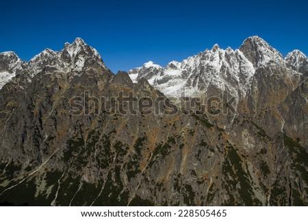 Autumn in High Tatra Mountains, Slovakia - stock photo