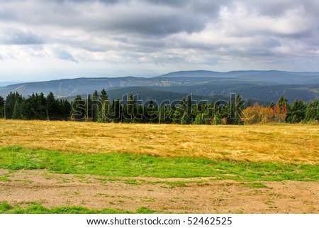 autumn in Ore Mountains, Czech Republic - stock photo
