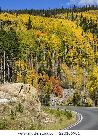 Autumn In Rocky Mountain National Park Colorado - stock photo