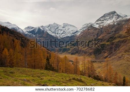 Autumn in the Alps in Austria - stock photo