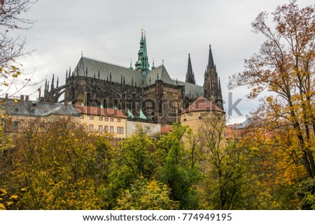 Autumn In The Czech Republic. Prague. St. Vitus cathedral