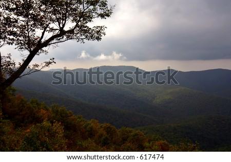 Autumn in the mountain - stock photo