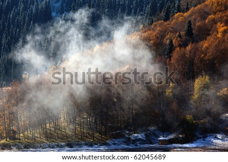 Autumn in the mountains of Tien Shan, Kazakhstan