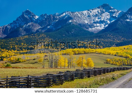 Autumn in the San Juan Mountains, Colorado - stock photo
