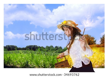 autumn ' iron grass, from what a grass turns yellow. An enough place is for inscriptions - stock photo