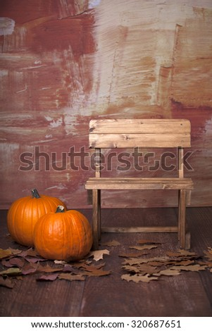 Autumn is coming. Halloween pumpkins await