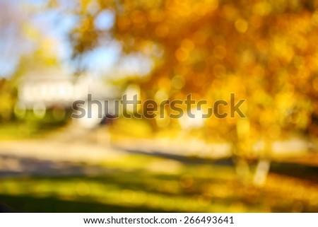 Autumn landscape blurred background - stock photo