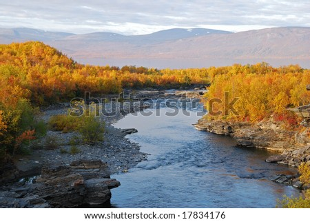 Autumn landscape in Abisko Sweden