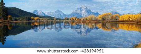 Autumn landscape in Yellowstone, Wyoming, USA - stock photo
