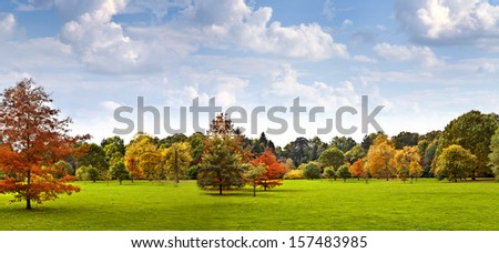 Autumn Landscape. Park in Autumn.   - stock photo