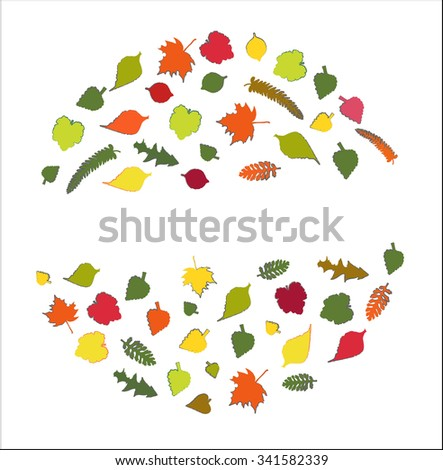 Autumn leaves set.  Raster version - stock photo