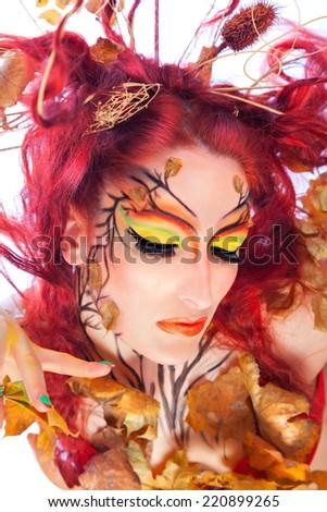 Autumn Makeup - stock photo