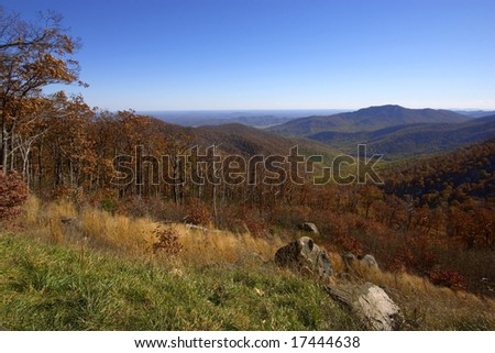 Autumn mountain landscape (Shenandoah)