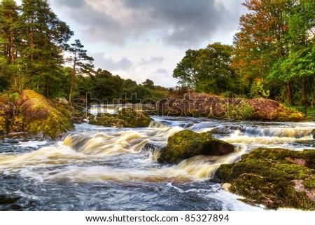 Autumn mountain stream in Killarney National Park, Ireland - stock photo