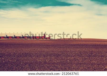 Autumn on American Farm - stock photo
