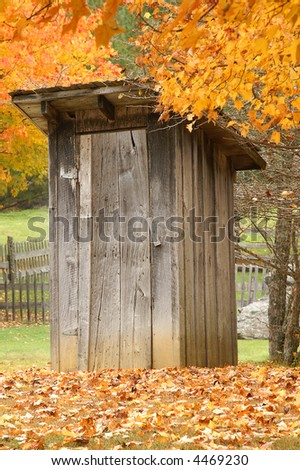 Autumn Outhouse at Grayson Highlands State Park Virginia