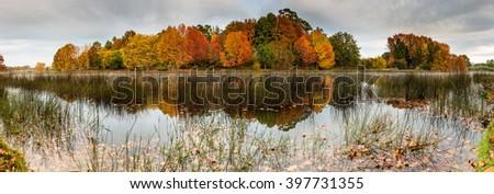 autumn panorama - stock photo