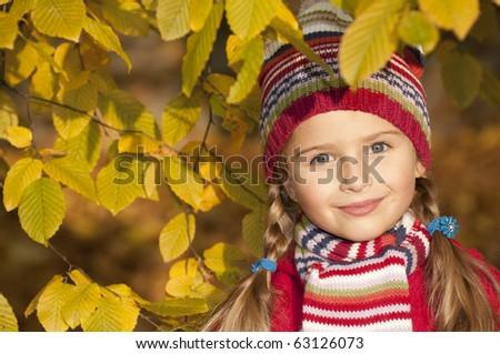 Autumn portrait - stock photo
